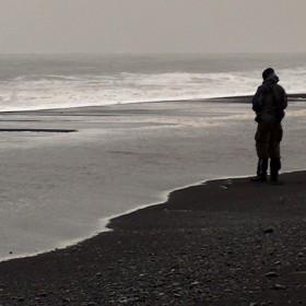 Červnová pláž po islandsku