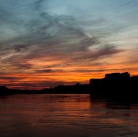 sunset in BA