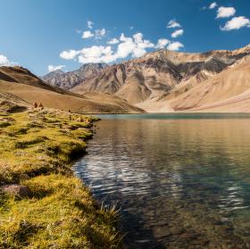 Posvátné jezero Chandra thal