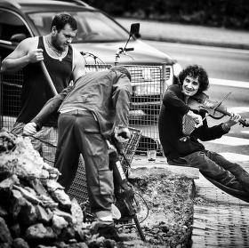 Pouliční muzikant