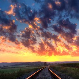 Východ na kolejích