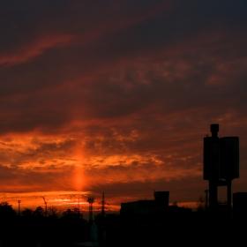 Západ slunce nad Ocelovým městem