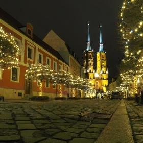 Noční Wroclaw