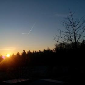 Průsečík nad posledním východem slunce v roce 2016