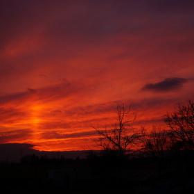 Nebe - živé barvy