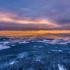 zimní západ