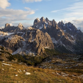 Gruppo dei Cadini při západu slunce