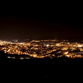 Teplice - noční panorama
