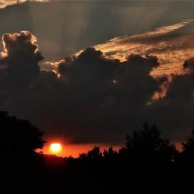 české nebe při západu