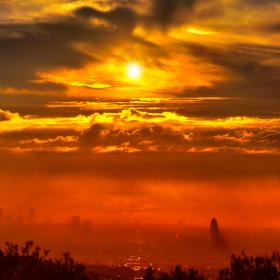 Ráno nad Barcelonou