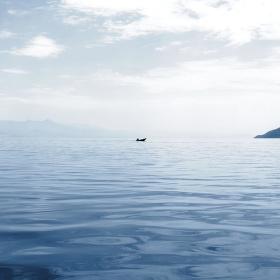 Rybář na Skadarském jezeře