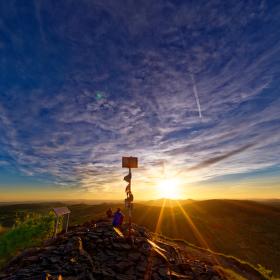 Západ slunce na Klíči