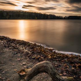 Večer na rybníku Rozhrna