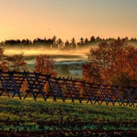 Podzimní mrazivé svítání