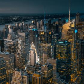 Manhattan po západu Slunce