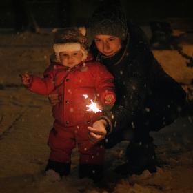 Vítání prvního sněhu ...