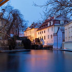 Zamrznuté ráno v Čertovke..
