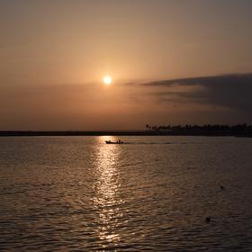 Západ slunce v Ománu