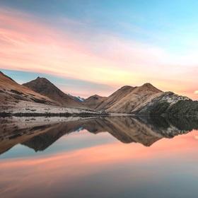 Beautiful morning and reflection at Moka lake.