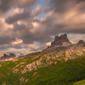 Západ slunce - Passo di Falzarego