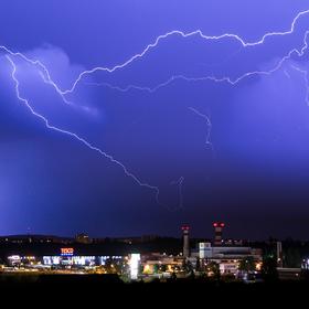Búrka nad Brnom