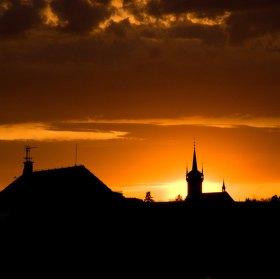 Zapad slunce nad Poličkou