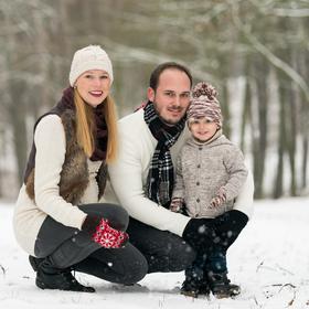 Zimní rodinný portrét