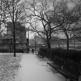 Park v zimě