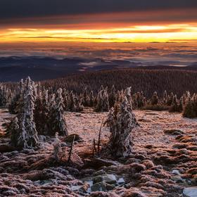 Ranní výhled z Břidličné hory