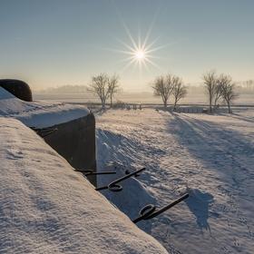 Pěchotní srub OP-S 10 pod sněhem