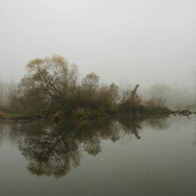 Sychravo u řeky