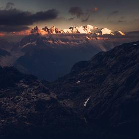 Večerní Mont Blanc
