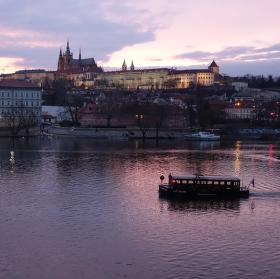 Podvečer na Vltavě