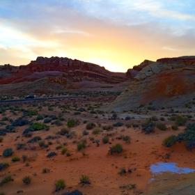 Západ slunce ve Valley of Fire