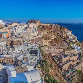 Santorini, městečko Oia