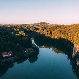 Český ráj z dronu