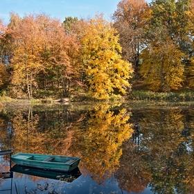 Zrcadlení na rybníku
