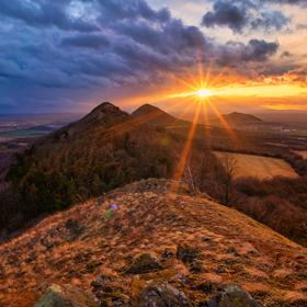 Západ slunce z Brníku