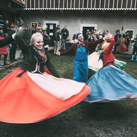 Masopustní tancování na Trávníčku, Podještědí