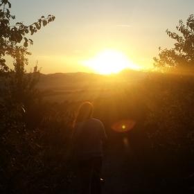 Pohled na západ slunce
