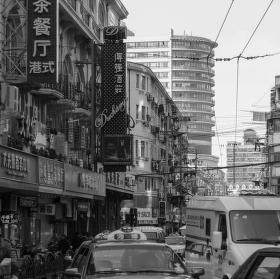 Šanghaj - rušná ulice