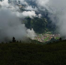 Mayrhofen z výšky