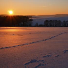 Rudé moře sněhu...