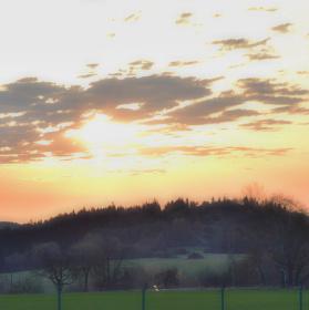 Východ slunce nad Křížencem