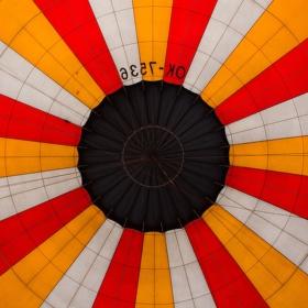 Horkovzdušný balon uvnitř.