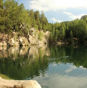 Jezero v Adršpašsko-teplických skalách