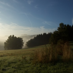 Podzimní ráno na Vysočině