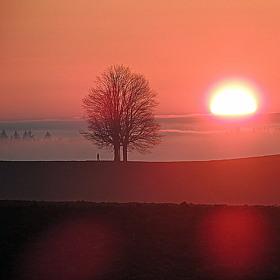 čarovný západ slunce