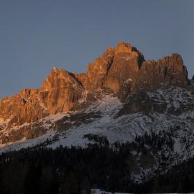 Západ v horách
