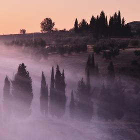 Toskánské ráno v Chiusure